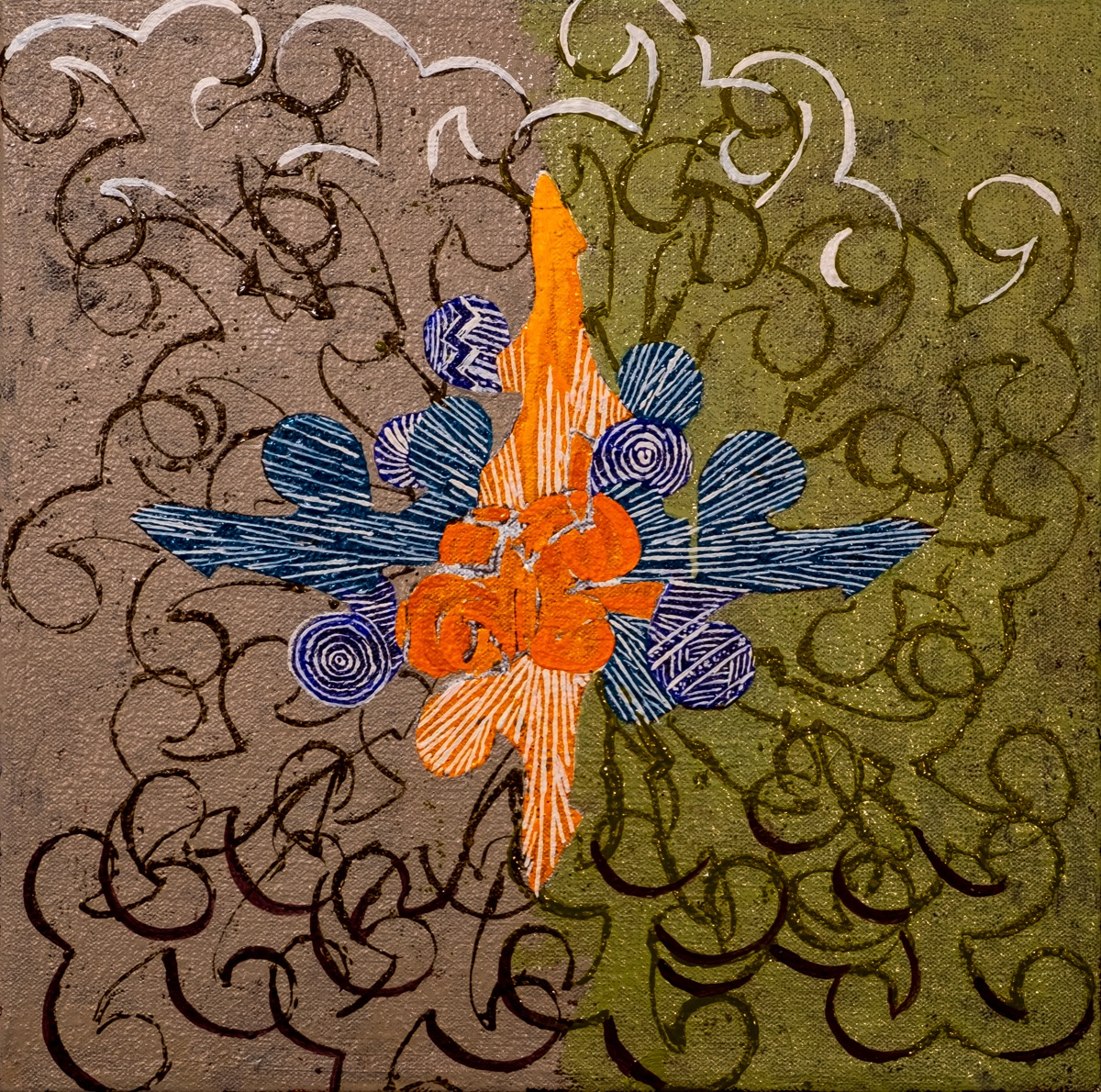 "Small Creature Series 12"" x 12"" 2019 Oil on Canvas REF# 2019/12"