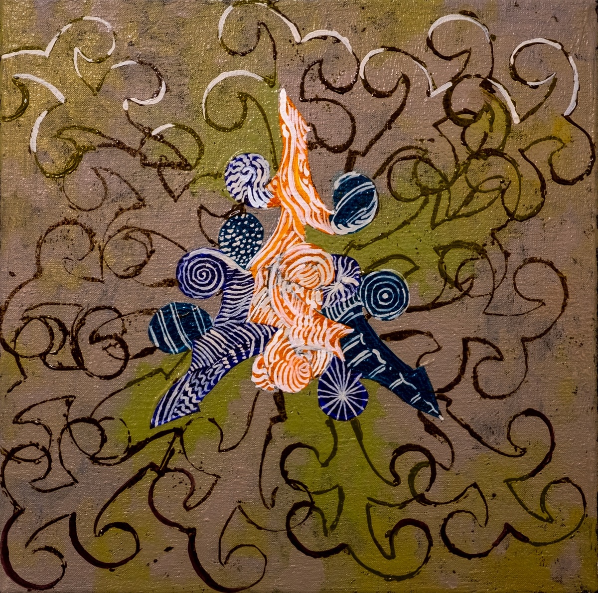"Small Creature Series 12"" x 12"" 2019 Oil on Canvas REF# 2019/14"