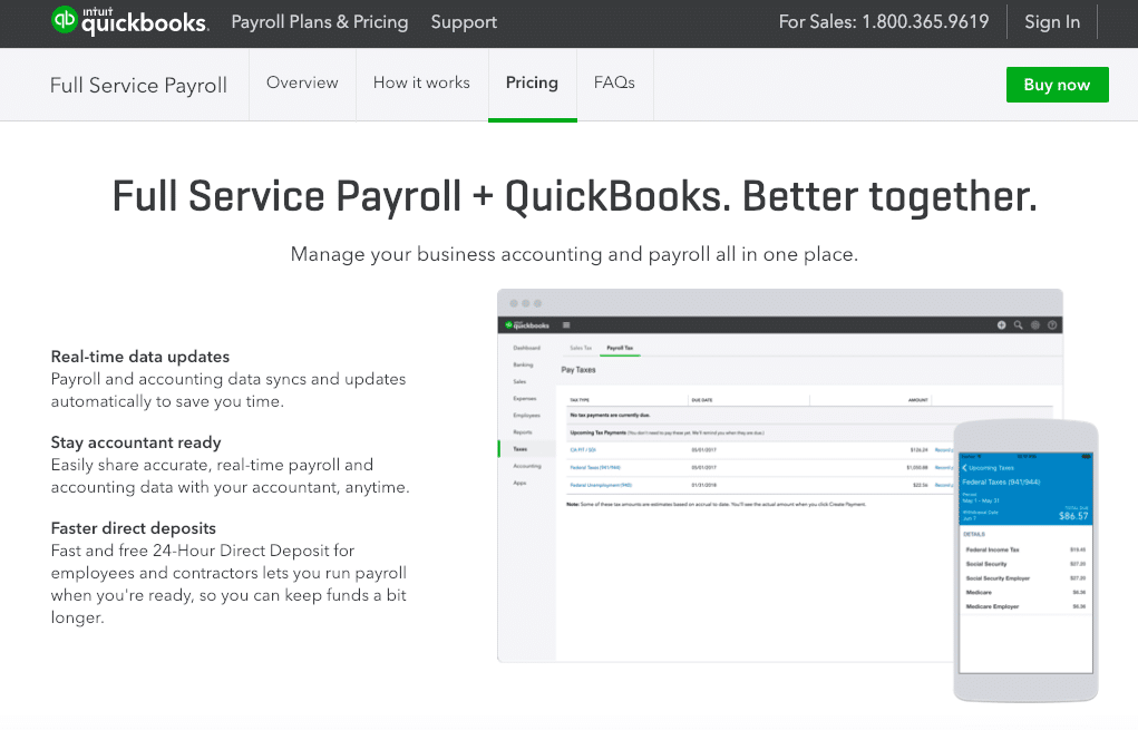 Quickbooks and Intuit payroll review