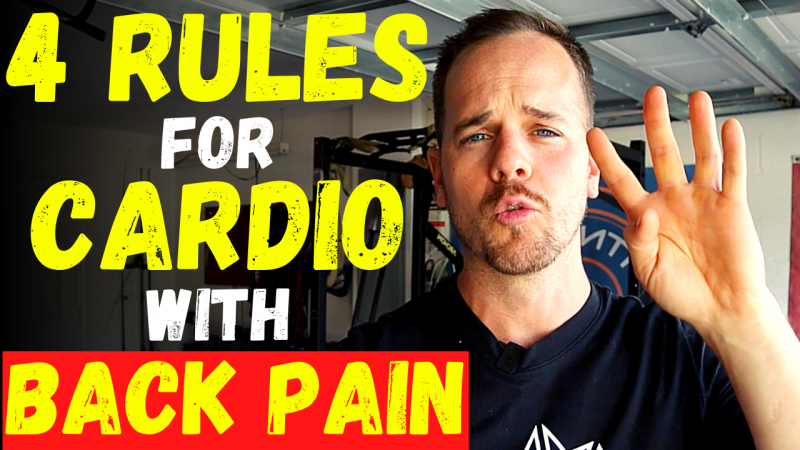 cardio with back pain,Cardio With Back Pain - 4 Rules to doing cardio without back pain + QUICK RELIEF TIP,cardio with back injury,cardio with back problems,cardio workout with back pain,back pain,cardio with a bad back,exercise for back pain,exercises for back pain,low back pain,lower back pain,low impact cardio