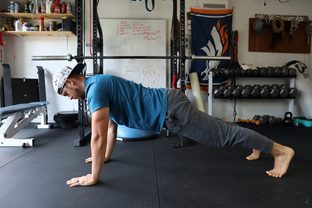 Arm planks for back and core strength