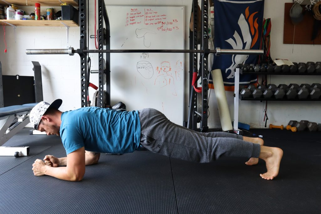 Plank up downs for back and core strength