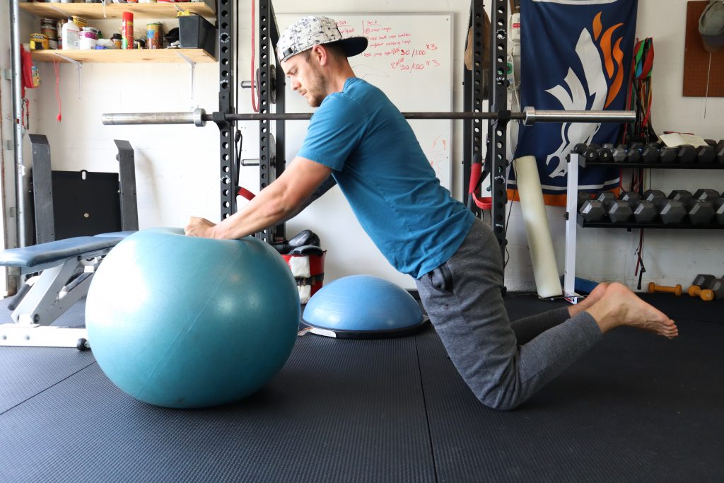Stability Ball Roll Outs for back and Core strength