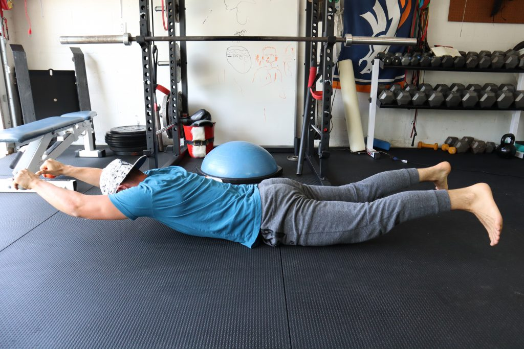 Face Down Extension Presses for back and Core Strength