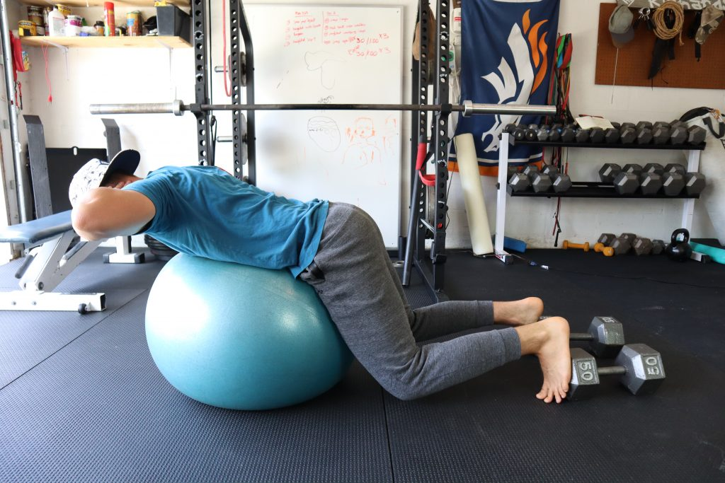 Stability Ball Extensions for back and core strength