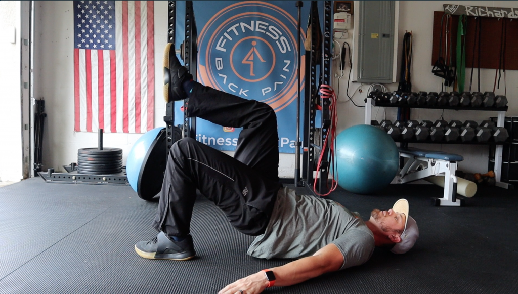 What is a single-leg glute bridge?