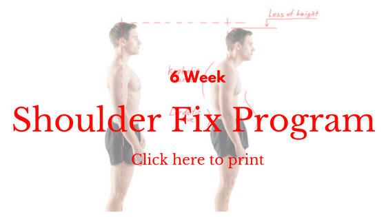 Fixing rounded shoulders