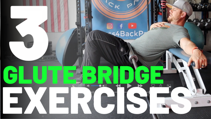 Single-leg glute bridge exercise