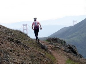 The author on a run at the Marin Headlands