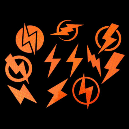 Silver LightningBolt Bicycle Reflective Stickers Decals