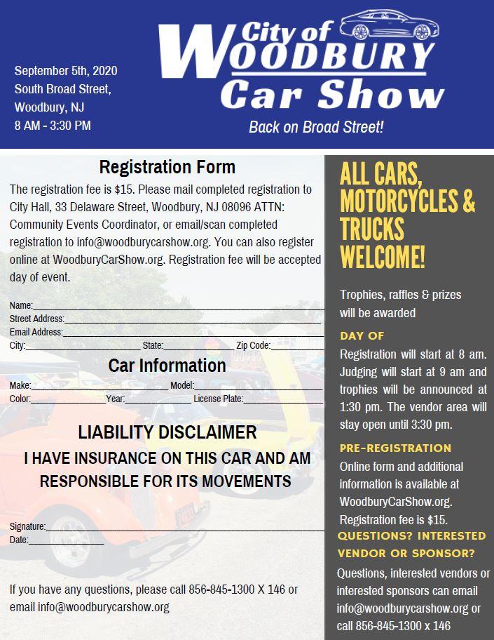 2020 Car Show Registration