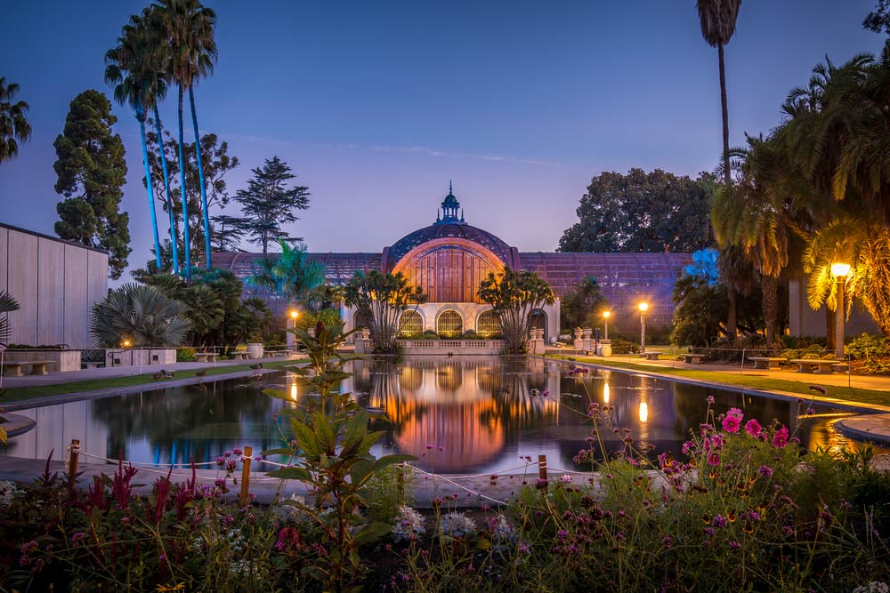 The botanical garden in Balboa park in San Diego, California