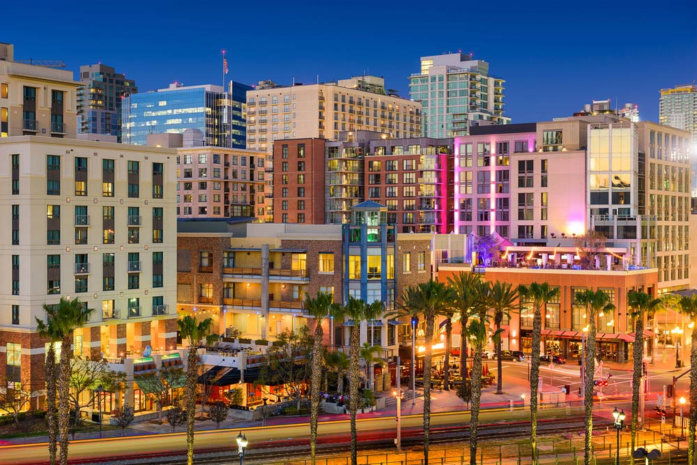 Gaslamp district in San Diego, just a 9 minute drive from the Bed and Breakfast.