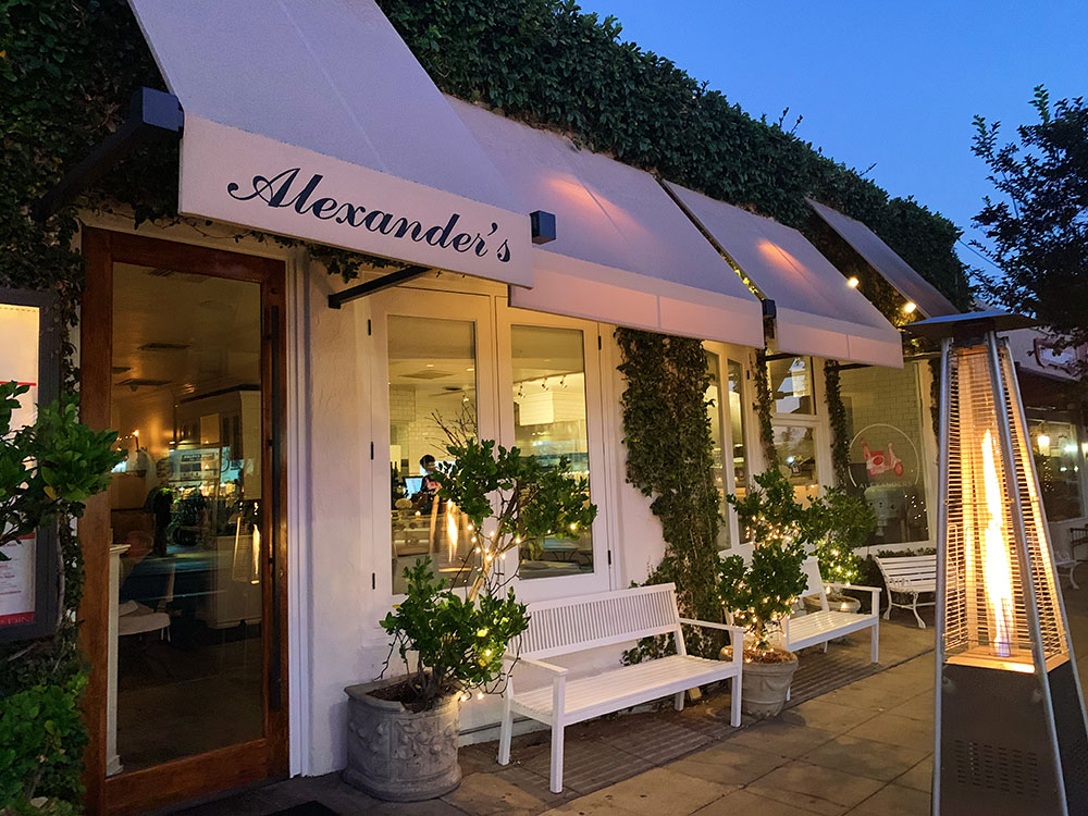 Alexander's on 30th - Our favorite Italian restaurant in San Diego. A five-minute walk from the bed and breakfast.