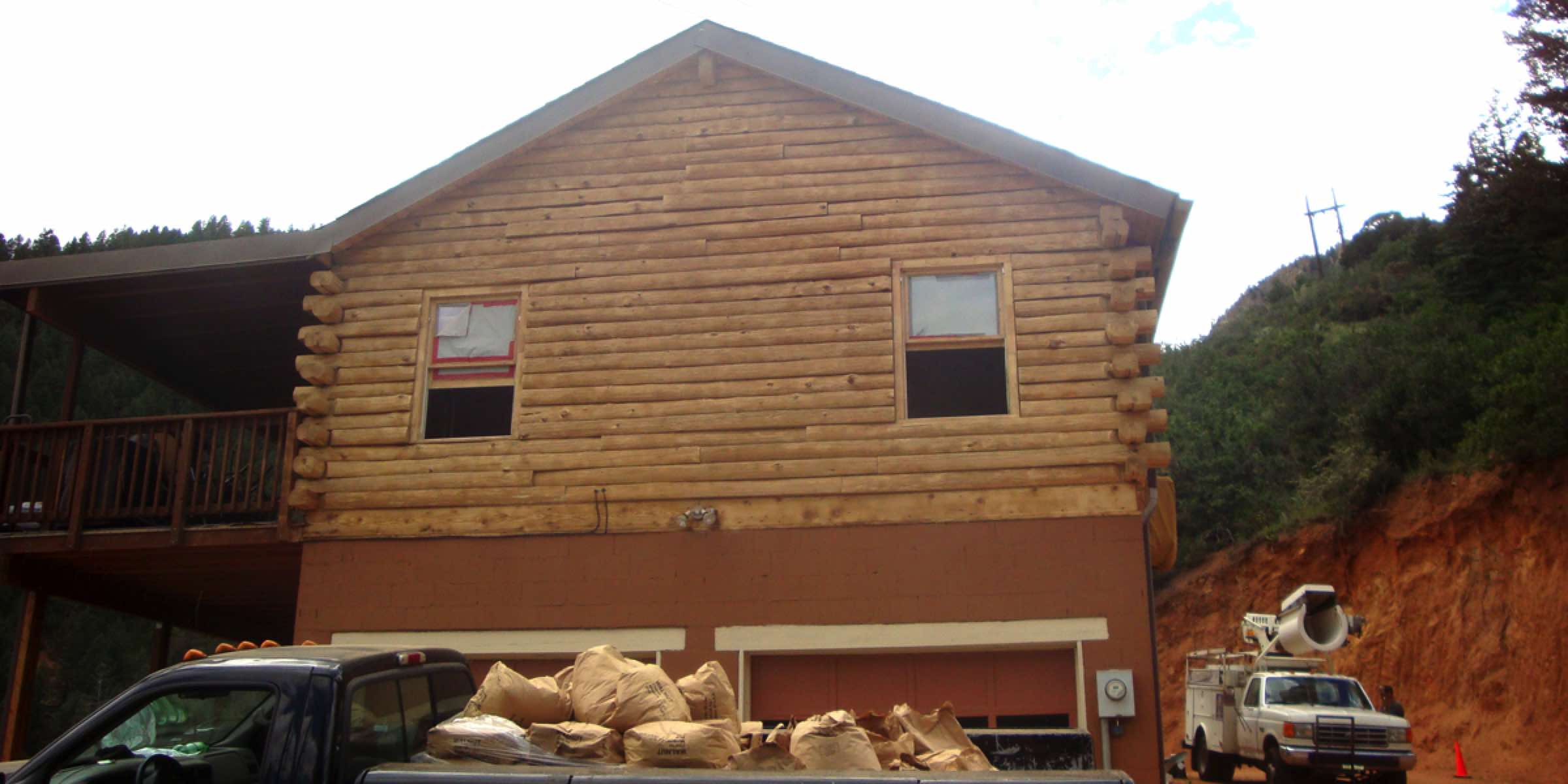 Log Home Restoration - After