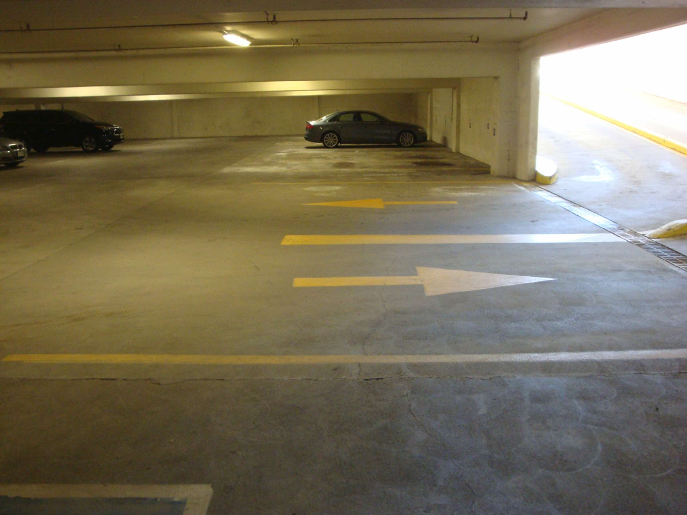 Parking Lot Garage Arrows Painting