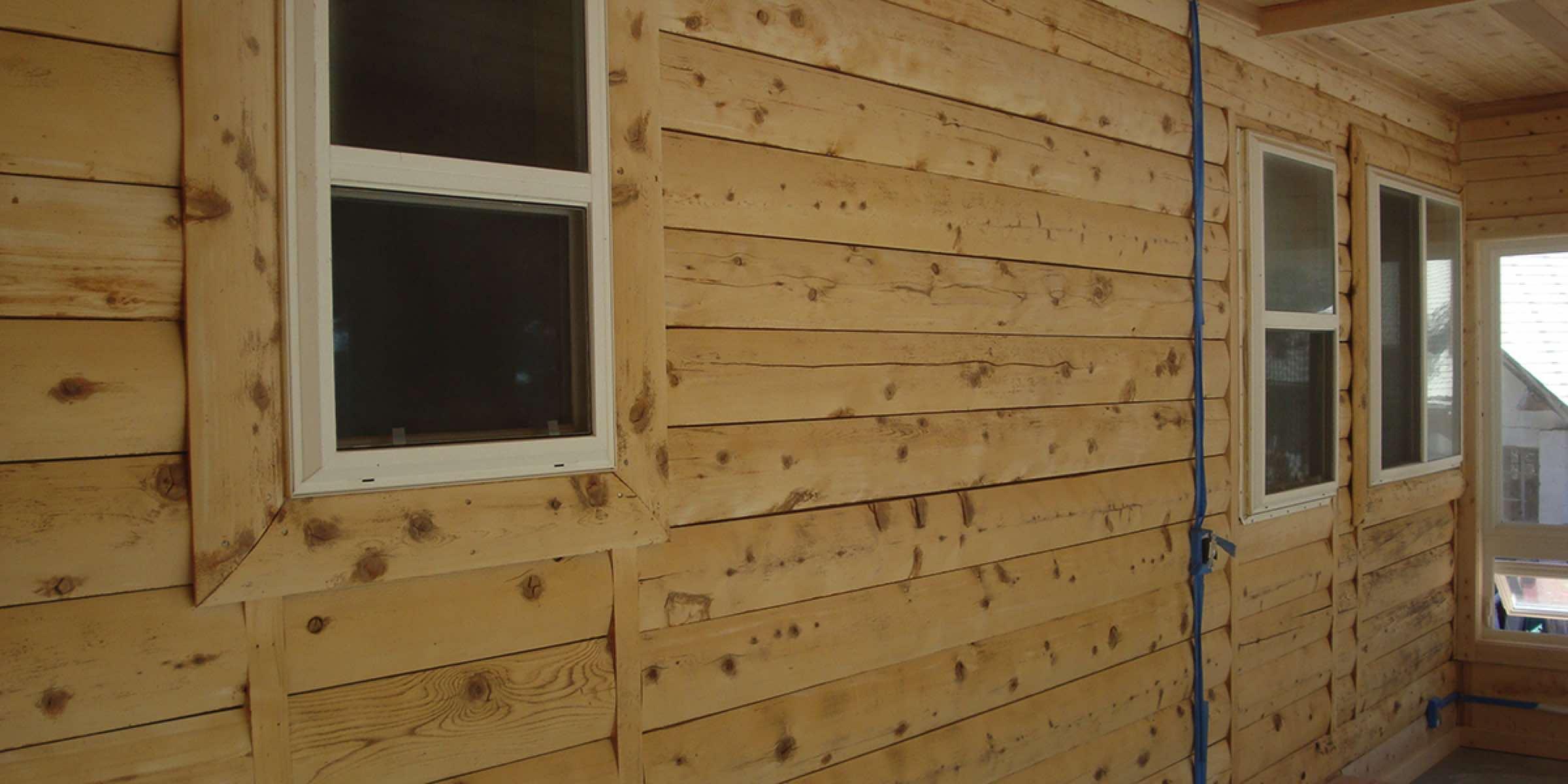 Log Home Restoration After