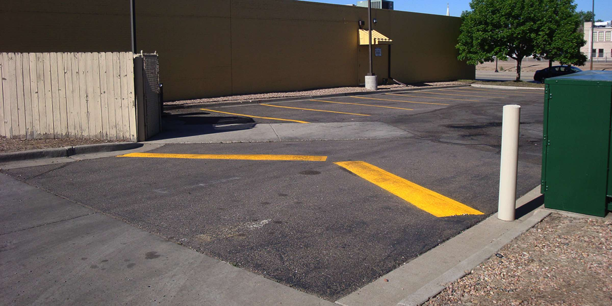 Parking Lot Yellow Lines Paint
