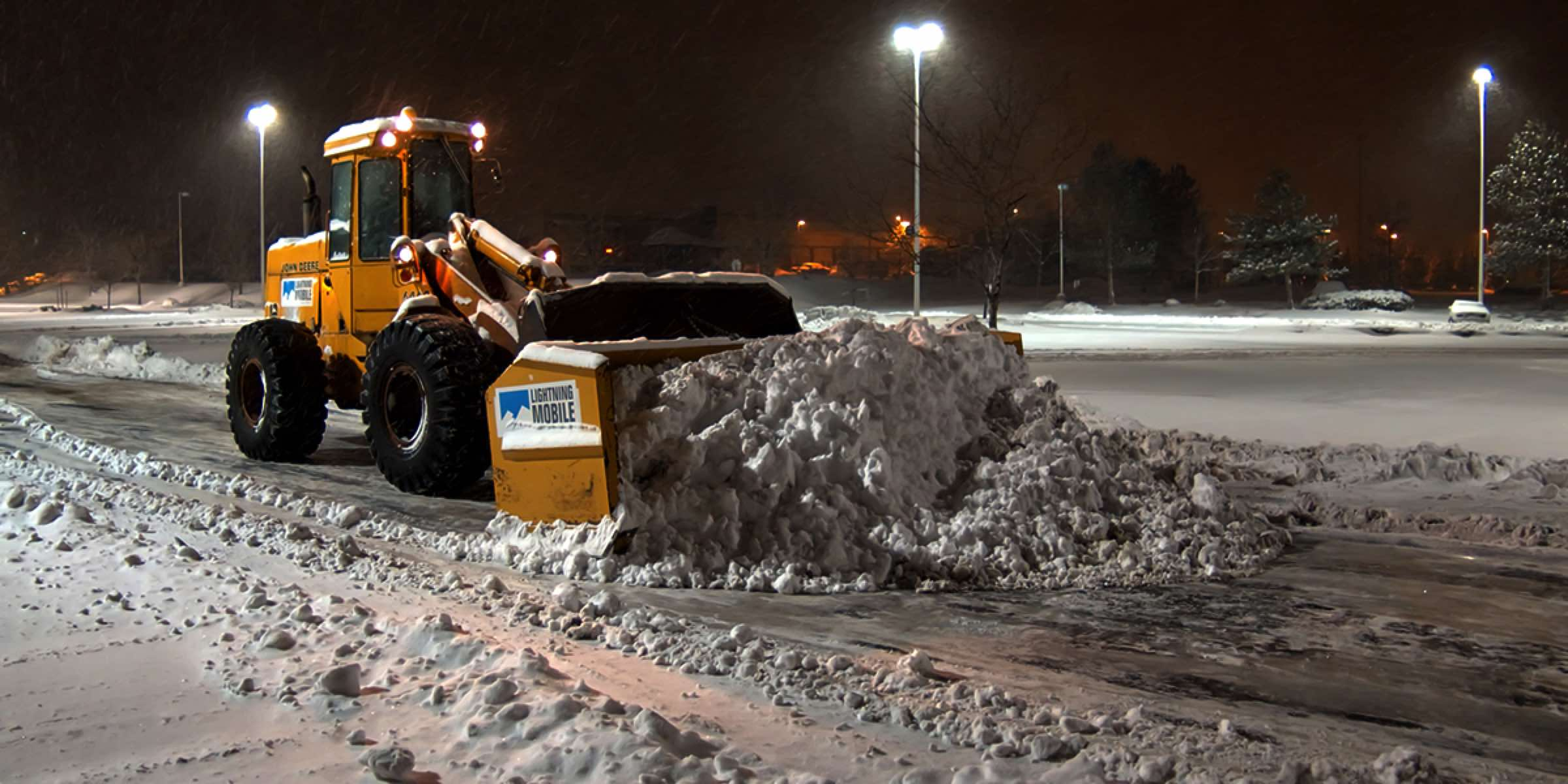Large Parking Snow Removal