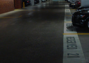 Parking Lot Reserve Lines Paint
