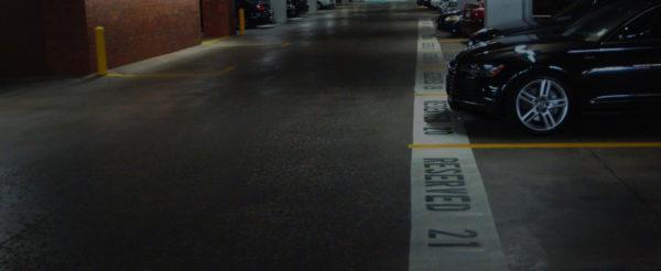 Parking Lot Reserve Lines Paint