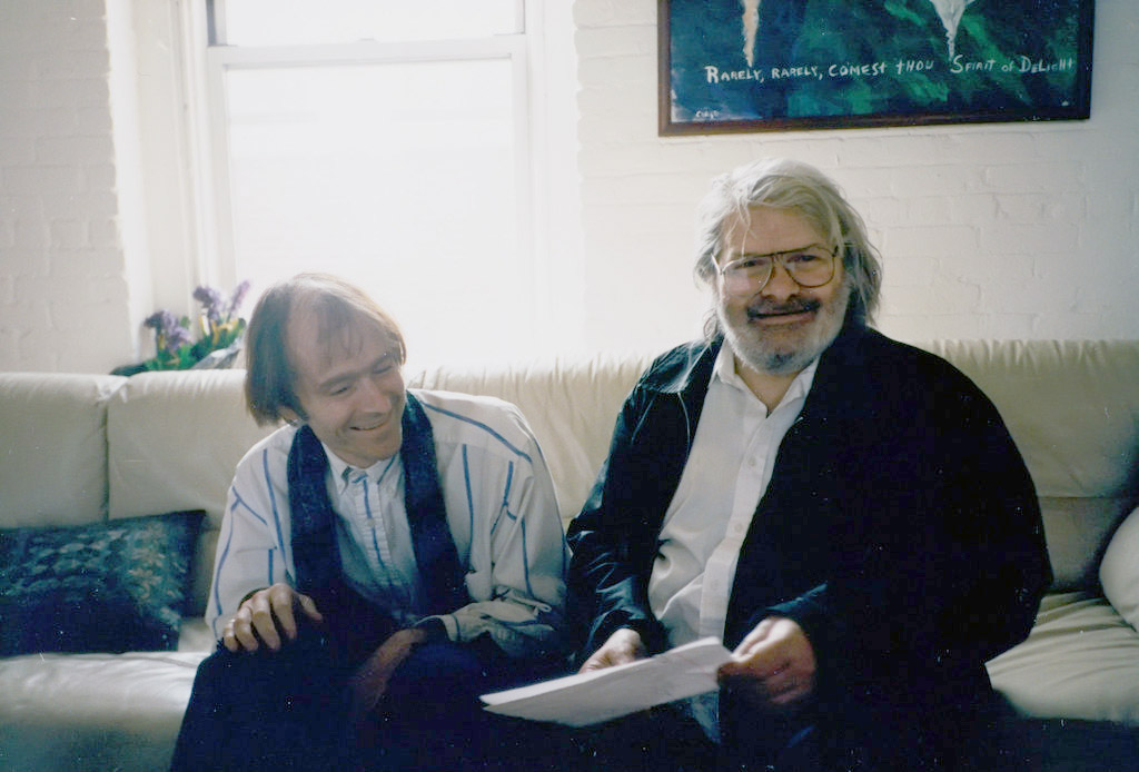 Simon Pettet with Gregory Corso, by Greg Masters