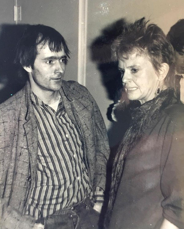 Simon Pettet with Janine Pommy Vega
