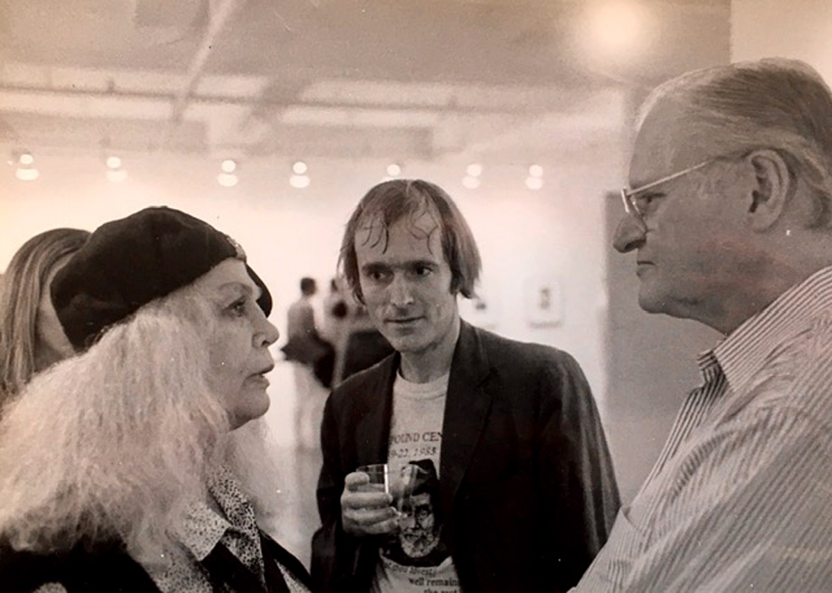 Simon Pettet with Sylvia Miles and John Ashbery - photo by Star Black