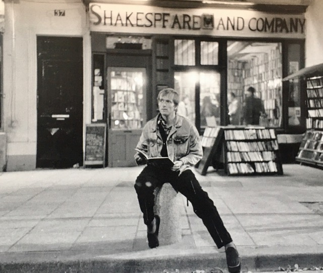Simon at Shakespeare & Company in Paris