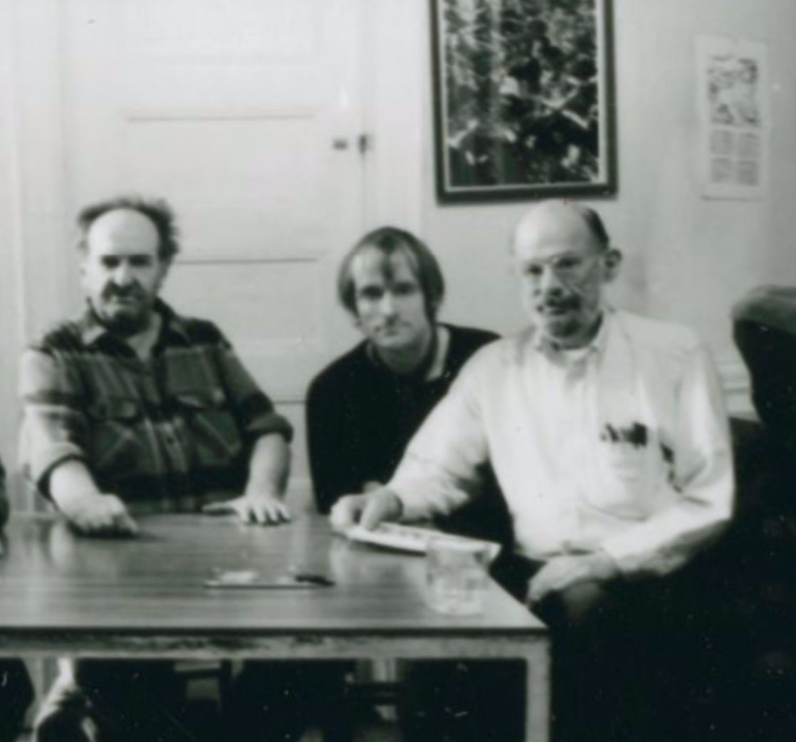Simon Pettet with ? and Allen Ginsberg