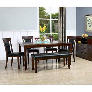 Cello Sleek Senator Four Seater Dining Table Set Brown Shopinroom