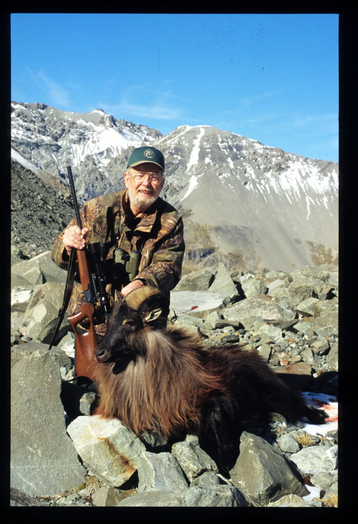 With a Tahr taken in New Zealand