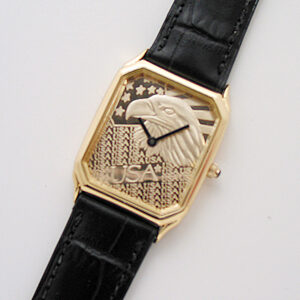 Rectangle with leather band