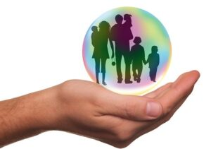 Image of palm holding silhouette of a family, representing how an insured's expectations of indemnity include an insurer's duty of good faith to unnamed insureds.