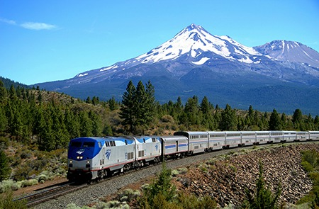 Amtrak-Coast Starlight - Mt Shasta