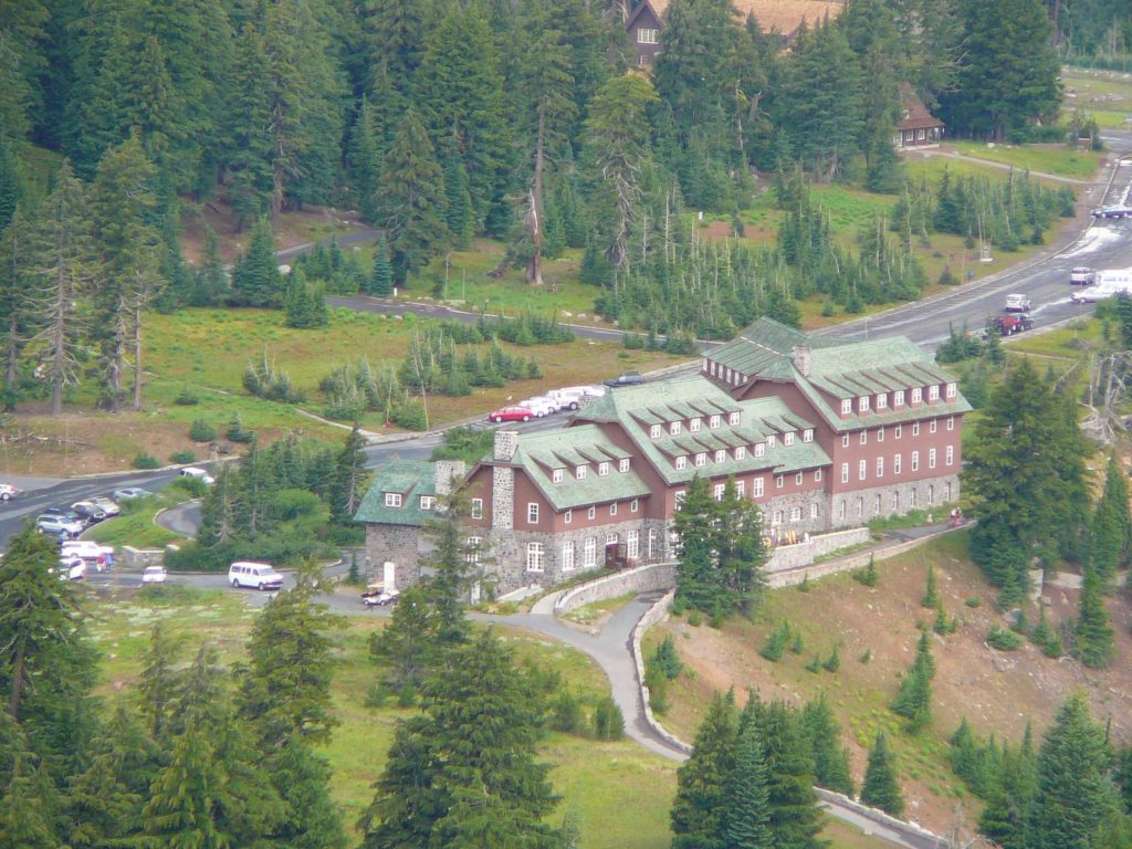 Crater Lake Lodge from Garfield Peak Trail