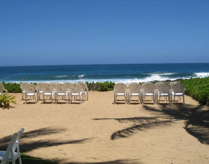 The beach at Grand Hyatt Kauai