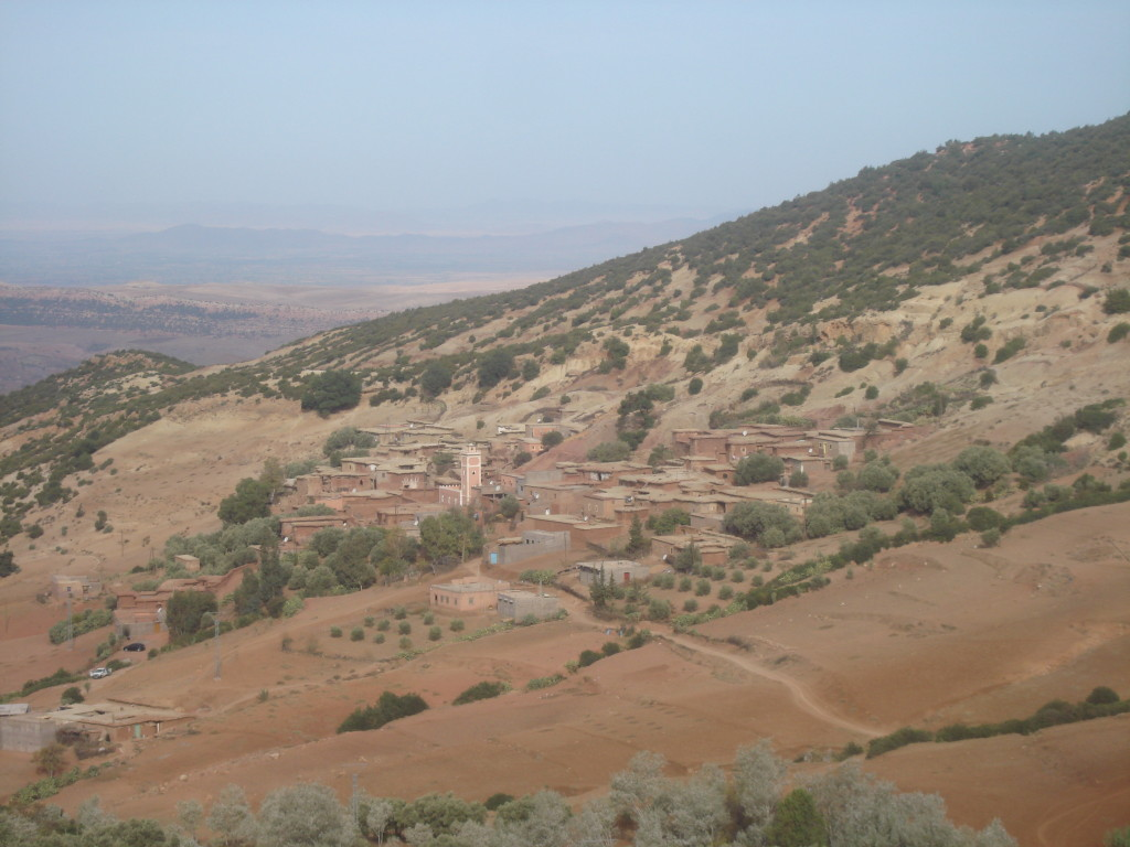 Berber Village in High Atlas Mountains