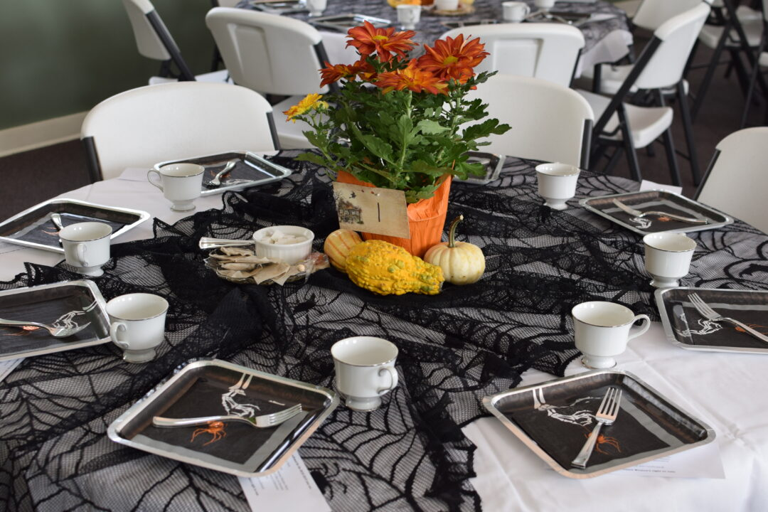 Witches Tea Halloween Table Setting