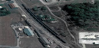 Google View of White Pigeon Michigan rail site