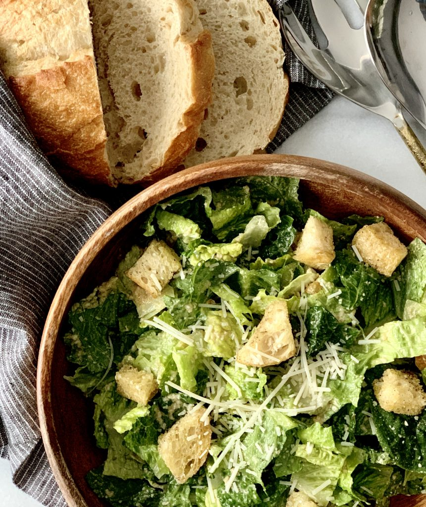 Classic Caesar Salad with Sourdough Croutons