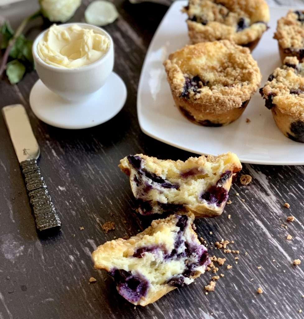 Blueberry Muffins with Lemon Citrus Crumble