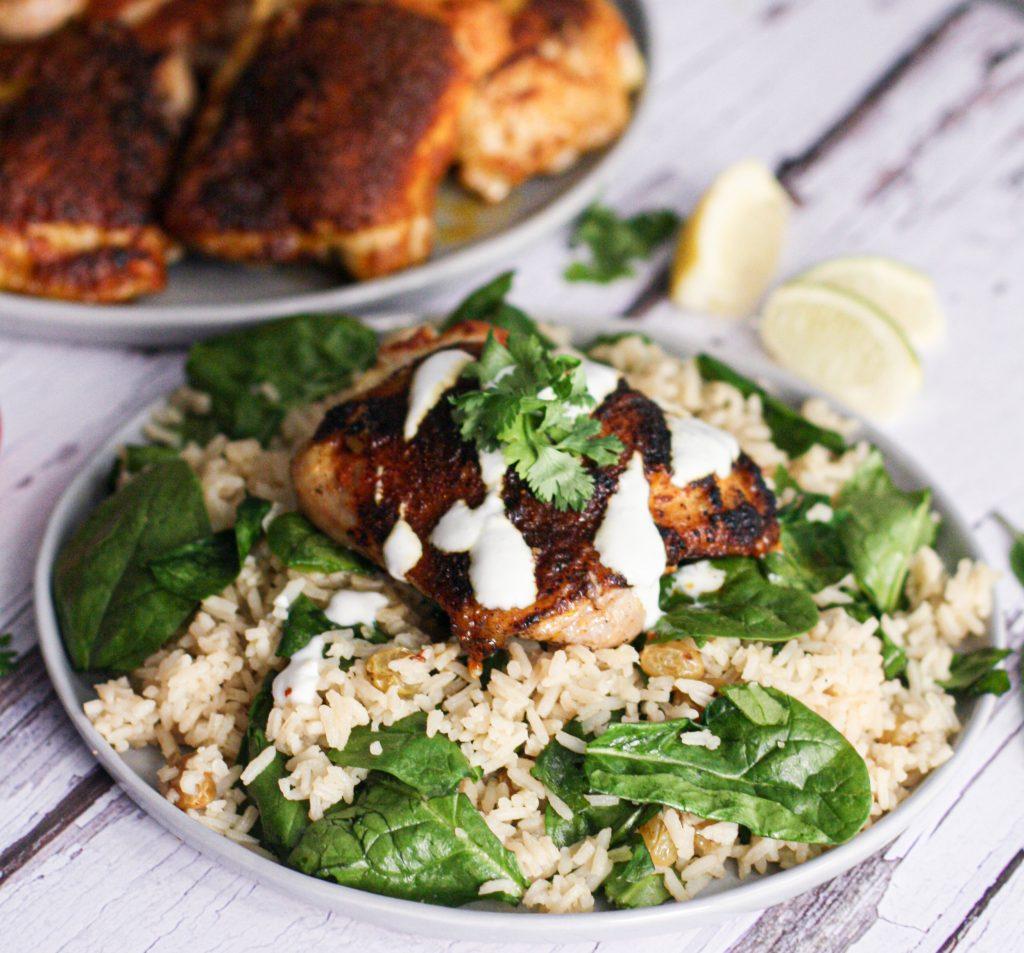 Tandoori-Spiced Chicken Thighs