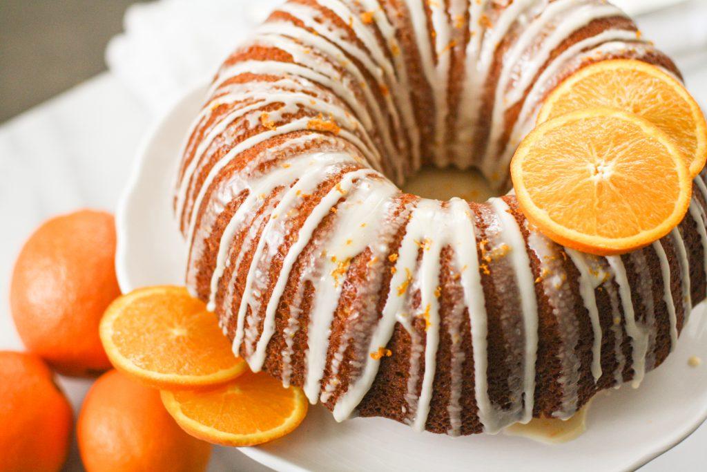 vanilla-glazed orange cake