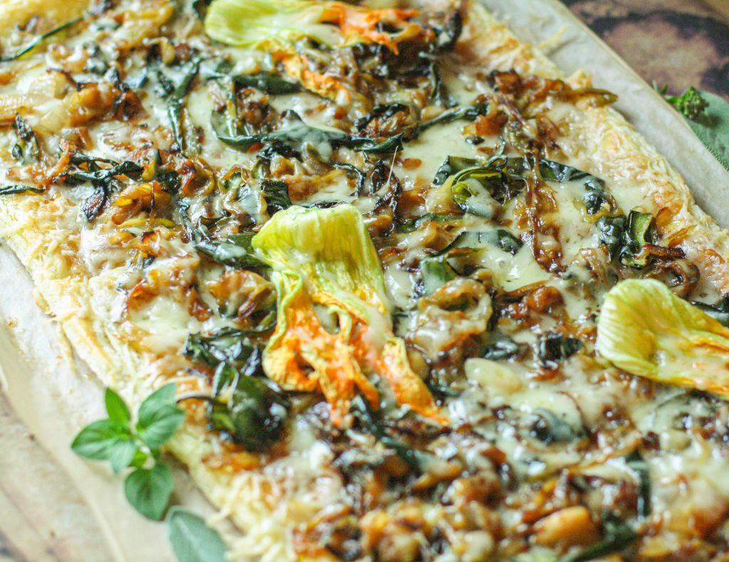 Carmelized Zucchini & Onion Tart