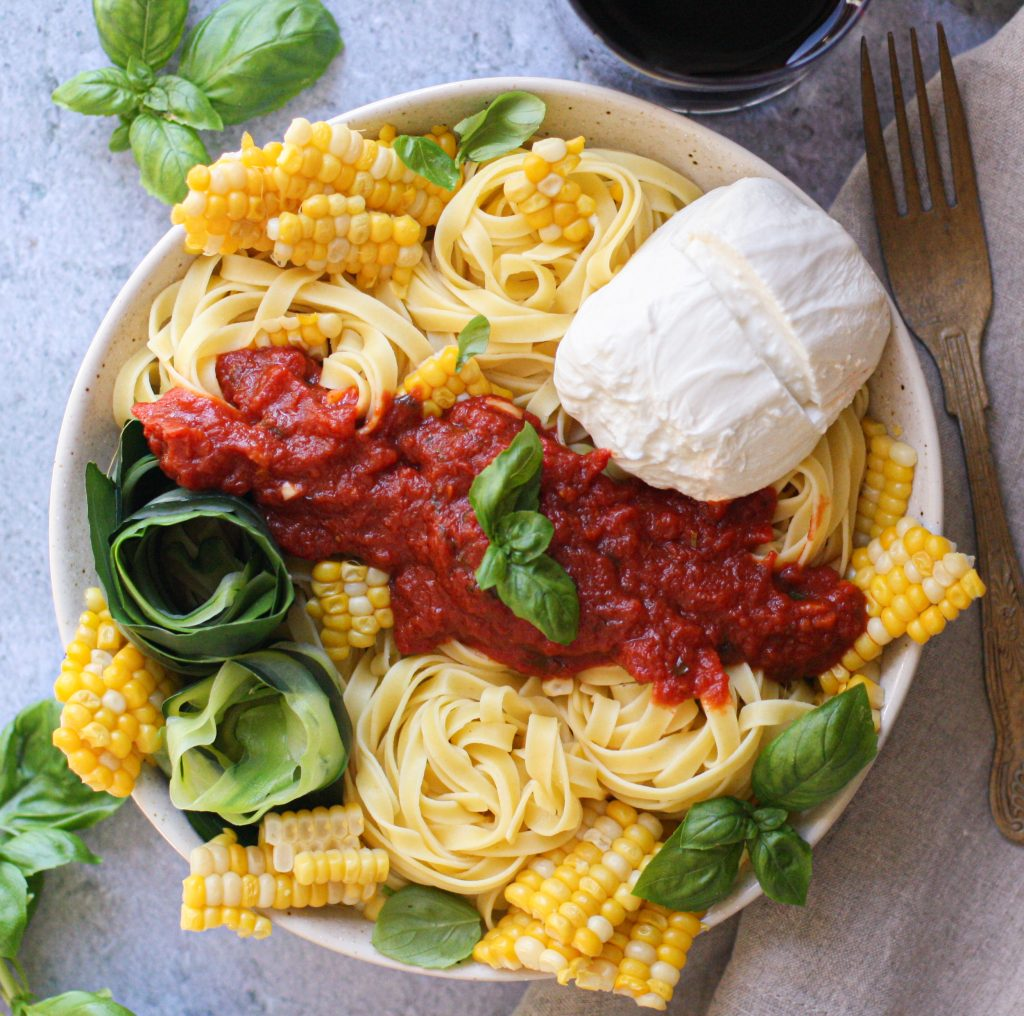 Summer Marinara with Sweet Corn & Burrata