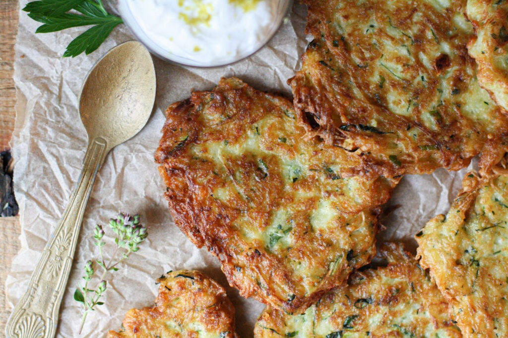 Pan-Fried Zucchini Cakes