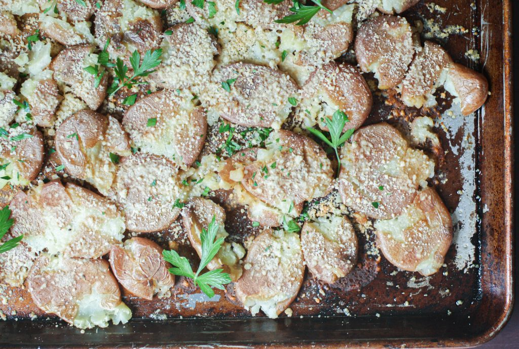 Salt & Vinegar Smashed Potatoes