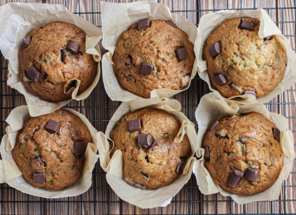 Chocolate Chunk Zucchini Muffins
