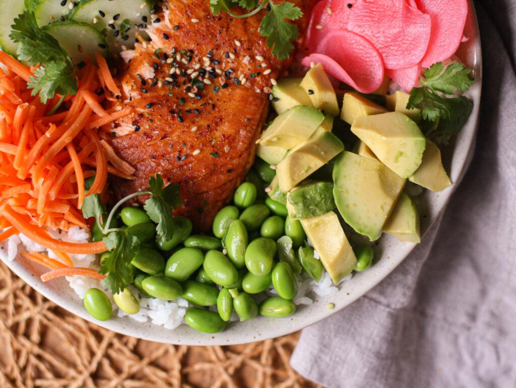 Salmon Poke Bowls with Citrus Ponzu Sauce